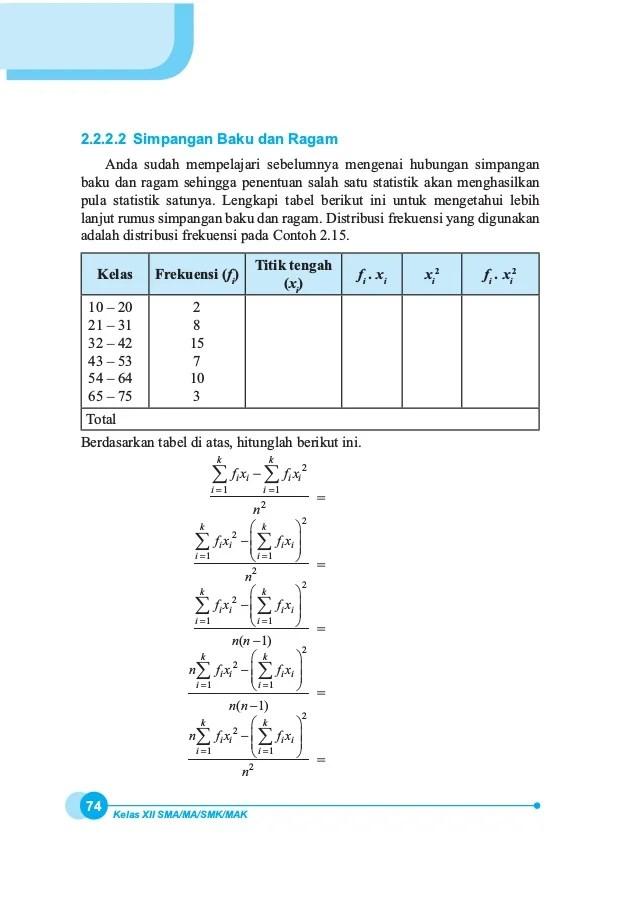 Cara Mencari Simpangan Baku Di Excel : mencari, simpangan, excel, Kumpulan, Contoh, Simpangan, Cute766