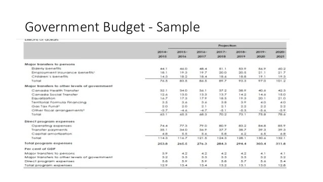 Zero Based Budgeting Government