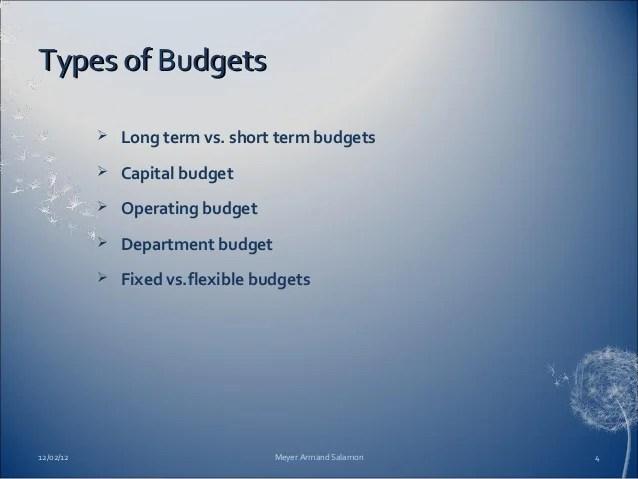 department budgeting