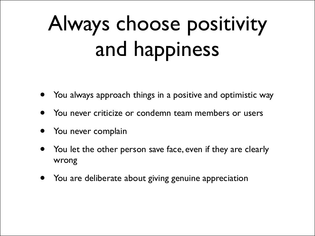 Always Choose Positivity And Happiness