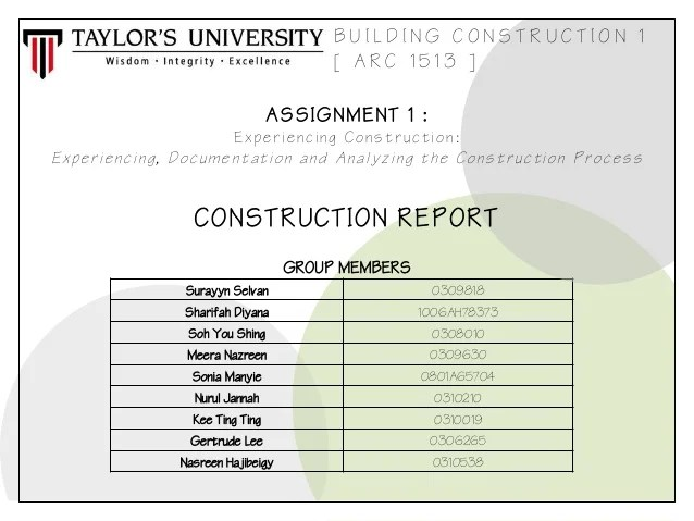 Construction Project Report