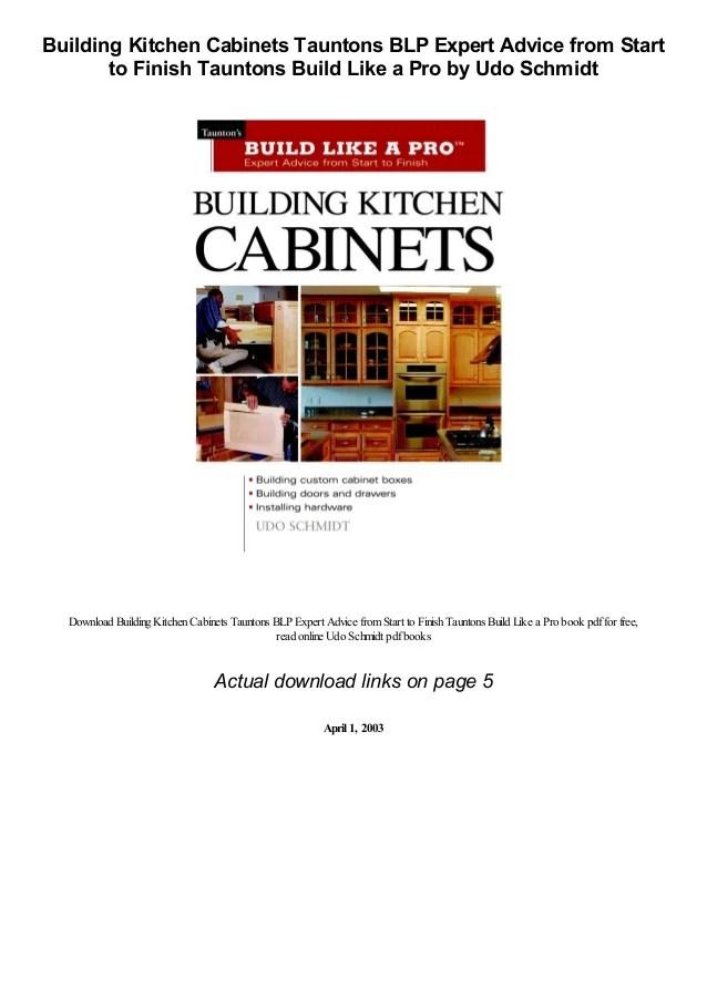 Building Kitchen Cabinets Pdf : building, kitchen, cabinets, Building, Kitchen, Cabinets, Tauntons, Expert, Advice, Start, Fi…