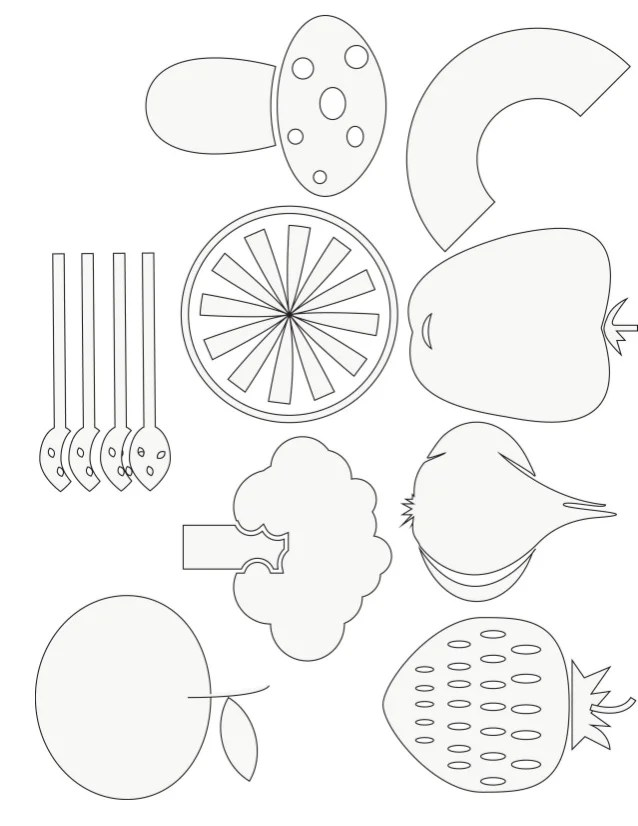 Cereal In A Bowl Coloring Pages