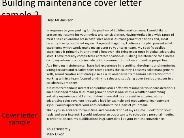 Resume Sample Building Maintenance 100 Original Papers