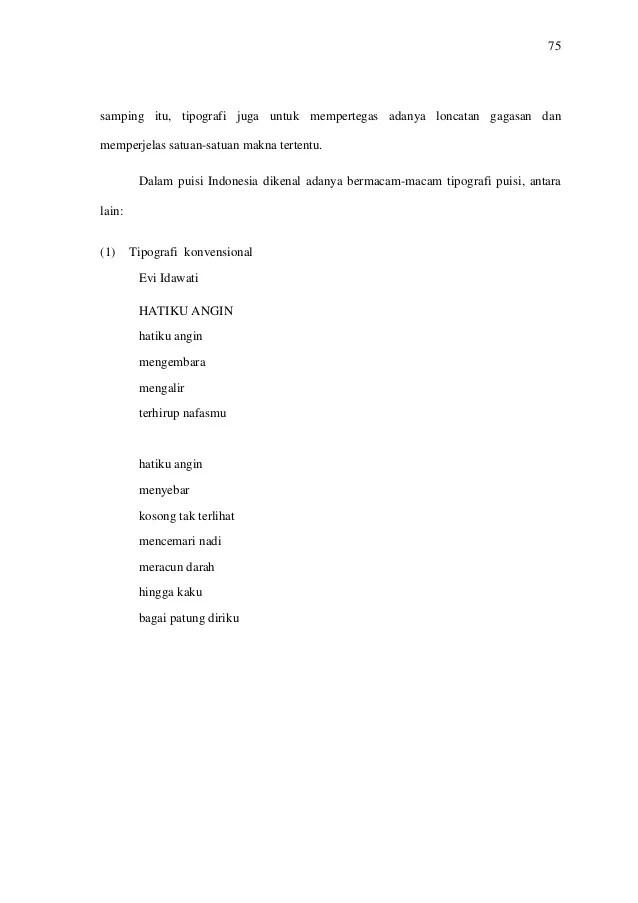 Tipografi Dalam Puisi : tipografi, dalam, puisi, Puisi