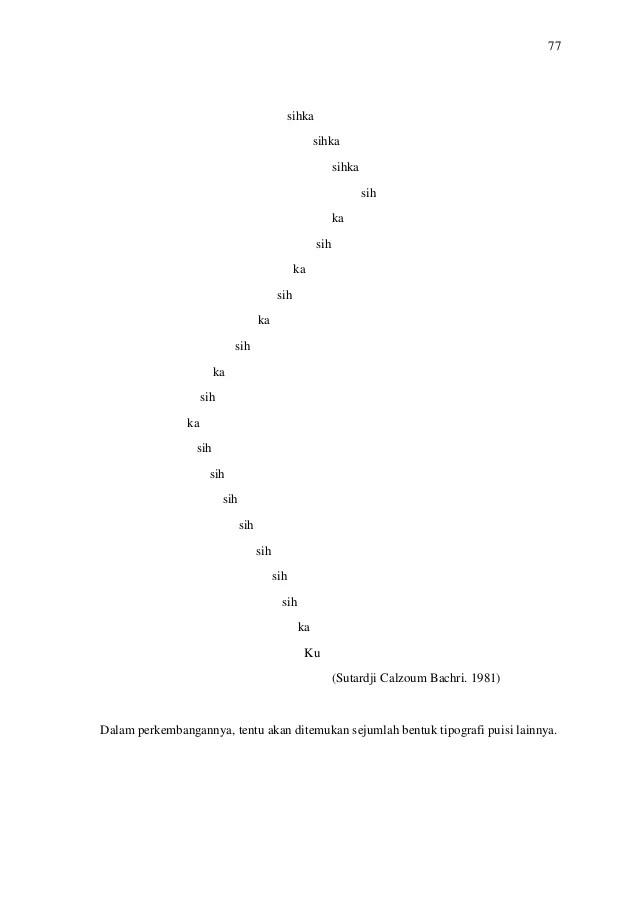 Tipografi Dalam Puisi : tipografi, dalam, puisi, Contoh, Puisi, Tipografi