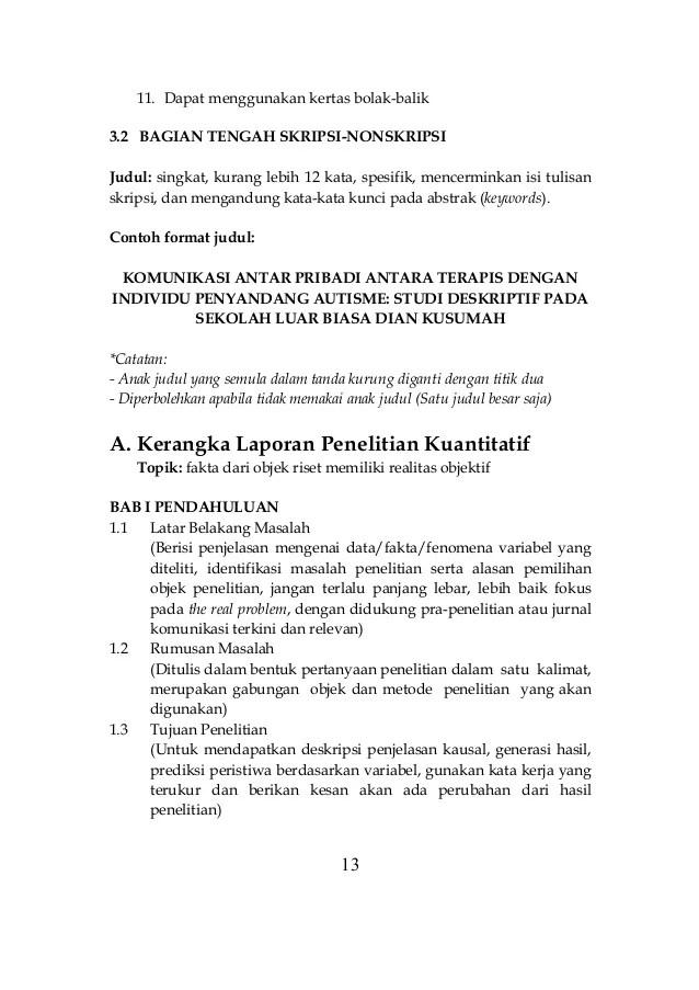Contoh Judul Penelitian Kuantitatif Komunikasi Mathieu Cuitan Dokter