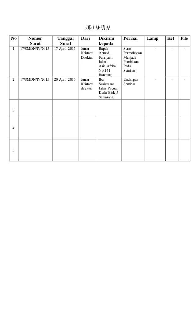 Agenda Surat Masuk : agenda, surat, masuk, Agenda, Surat, Keluar