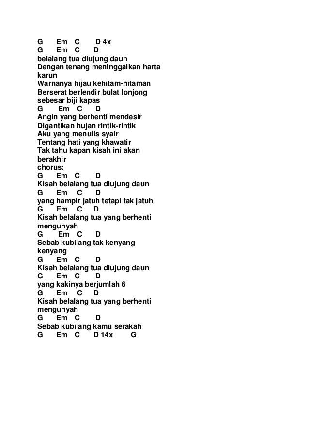 Kunci Gitar Berpisah Di Ujung Jalan : kunci, gitar, berpisah, ujung, jalan, Kumpulan, Lirik, Indonesia, Kunci, Gitar