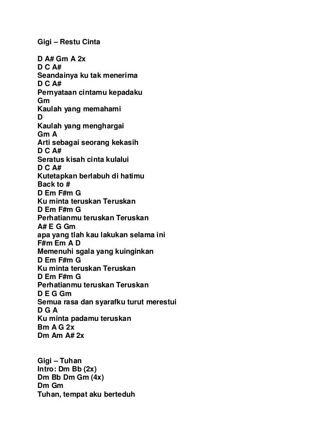 Chord Gigi Religi : chord, religi, Kumpulan, Carta, Cute766