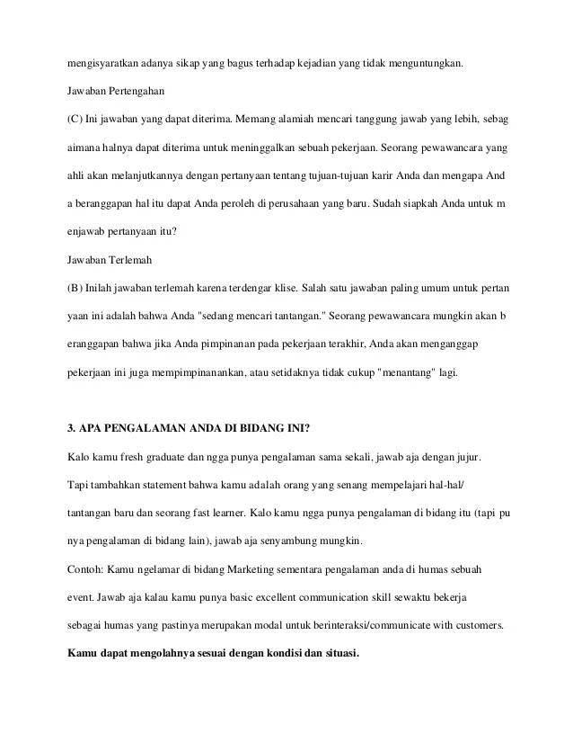 Cari Tahu Tips Menjawab Pertanyaan Interview di Sini