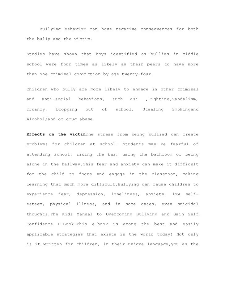 Bullying Essay Thesis Bullying Essay Example Bullying Essay Thesis