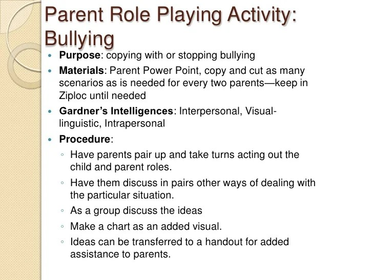 Bullying Parent Workshop