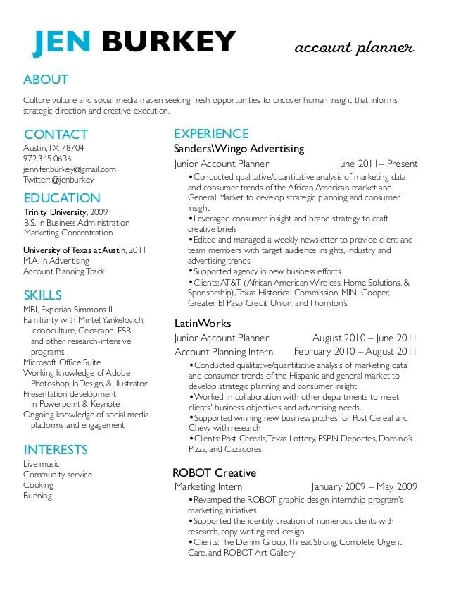 Strategic Planning Resume Examples