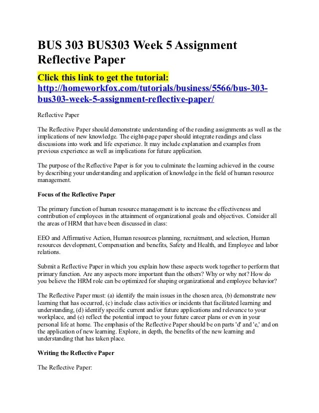Group reflection essay