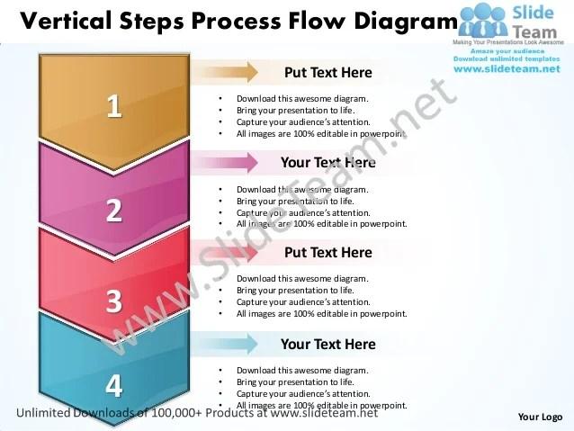 Vertical steps process flow diagram also business power point templates sa  rh slideshare