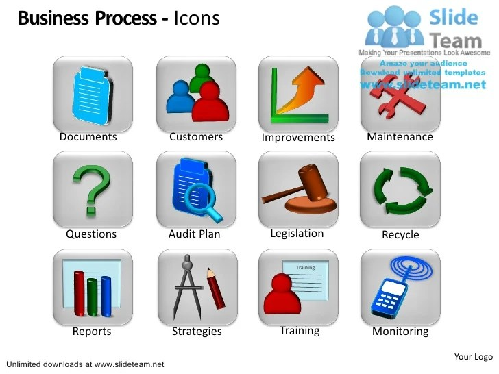 business process icons customers
