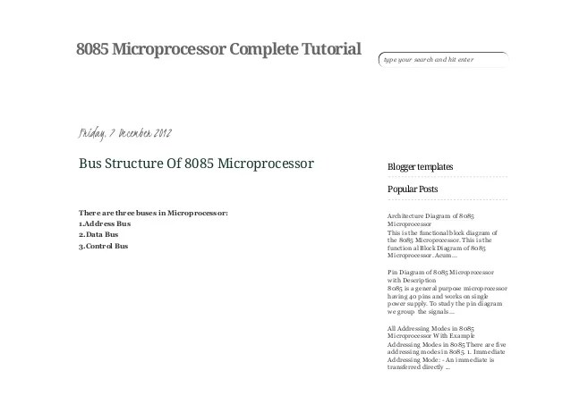 architecture of 8085 microprocessor with block diagram pdf blind eye bus structure complete t 4 26 2015 tutorial http