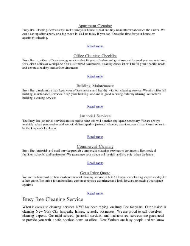 Busybeecleaningservice apartment cleaning