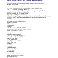 Distributor Baja Ringan Di Cilacap Butuh Rangka Atap Surabaya Ga