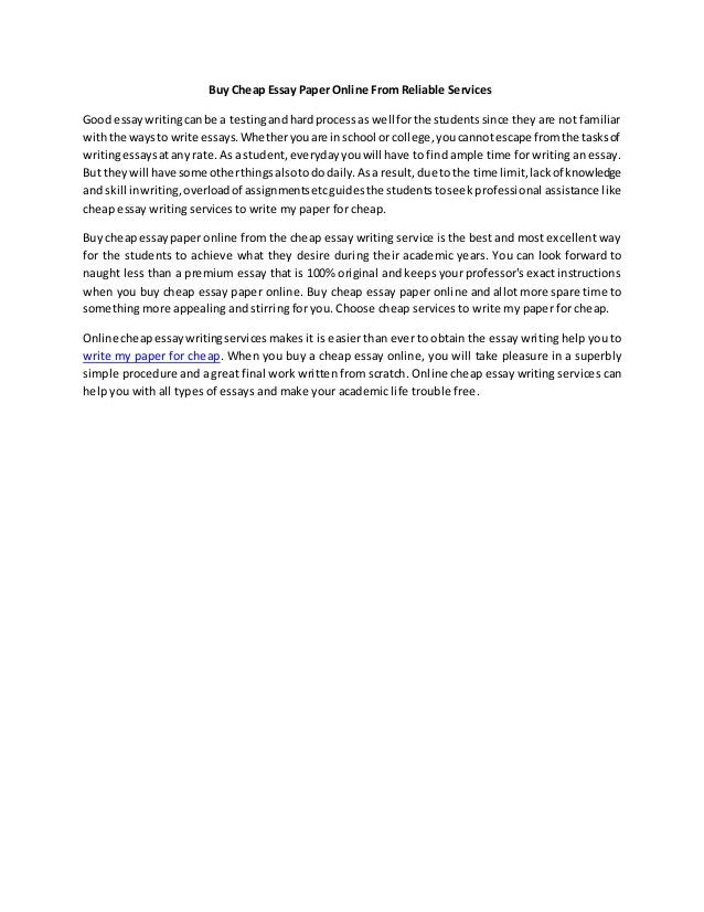 Buy essay paper