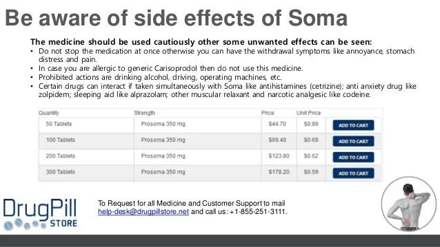 Buy generic carisoprodol soma 350 mg @drugpillstore