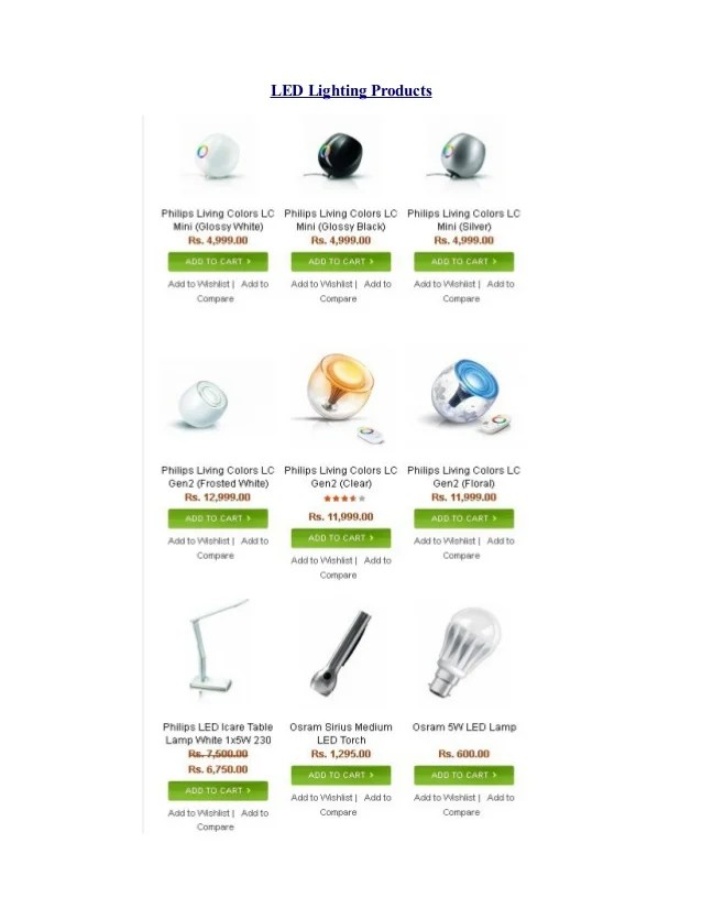 Buy Online Organic Products Led Lighting Products Health