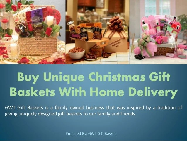 Buy Unique Christmas Gift Baskets With Home Delivery