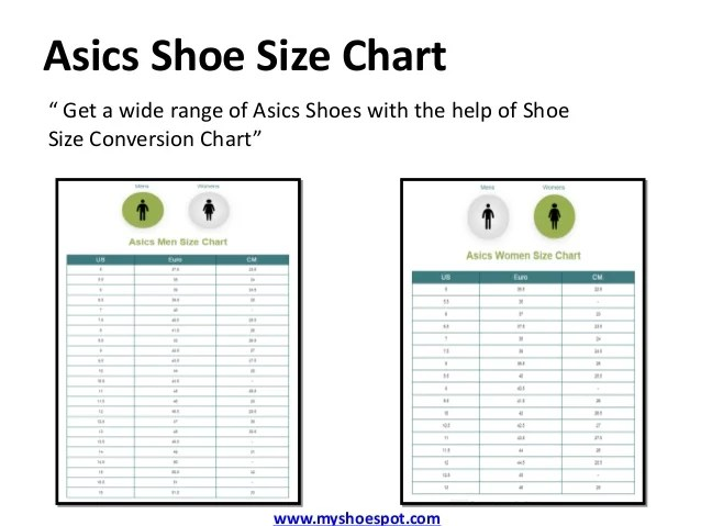 Mens To Womens Shoe Size Conversion Chart Asics