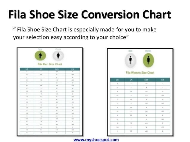 Fila Womens Shoes Size Chart Homeschoolingforfree