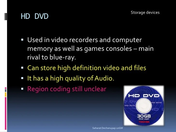 Storage Devices Presentation