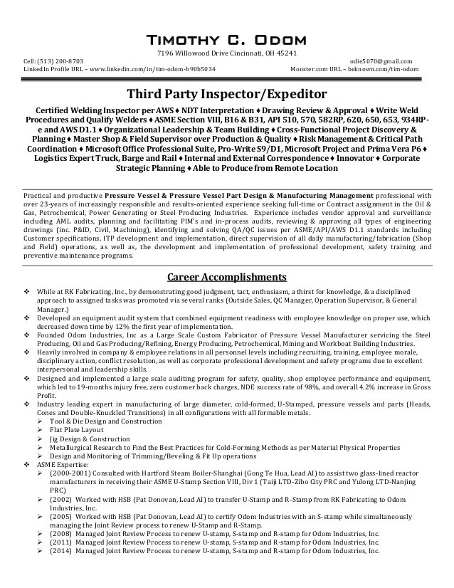 TCO TPI EXPEDITOR Resume REV 012416