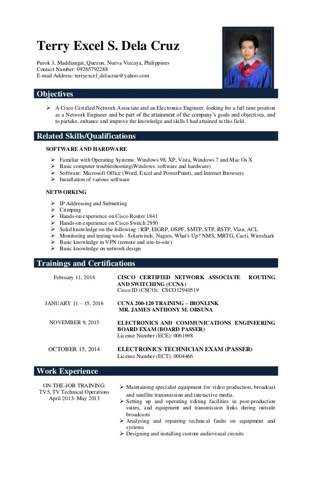 resume message sample