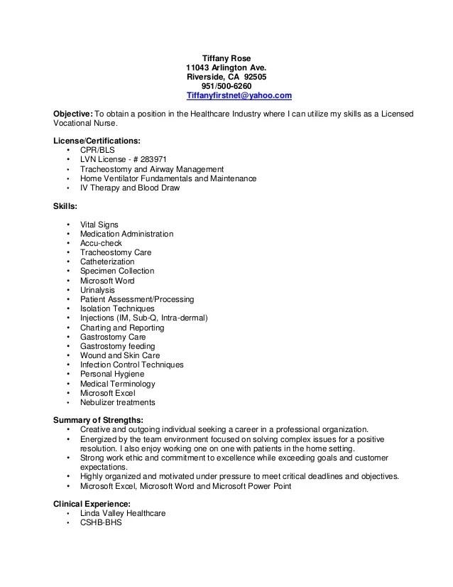 lvn resume