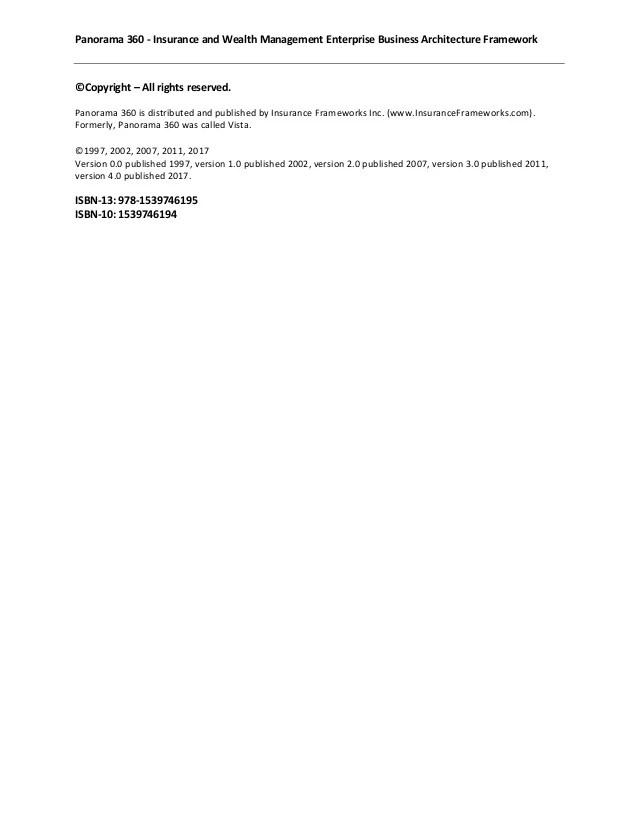 panorama 360 enterprise business architecture framework sample