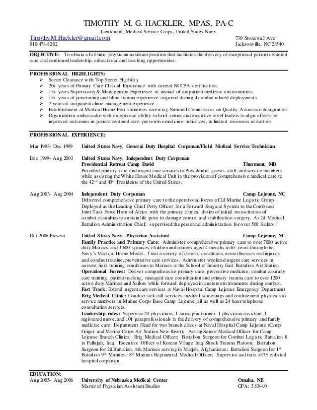 Timothy Hackler Full Resume