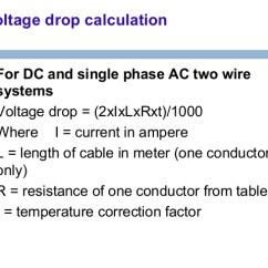 Single Phase Voltage Drop Formula True Freezer T 49f Wiring Diagram Cable And Laying