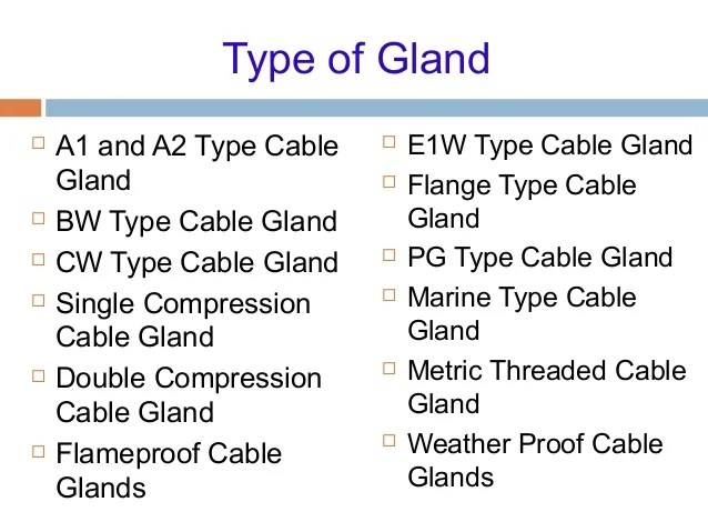 Parts of gland also cable and laying rh slideshare