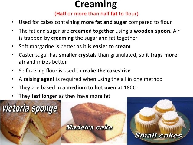 Types Cakes Made Whisking Method