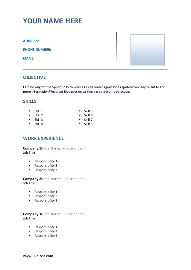 Resume Examples For Call Center Applicants Resume Ixiplay Free
