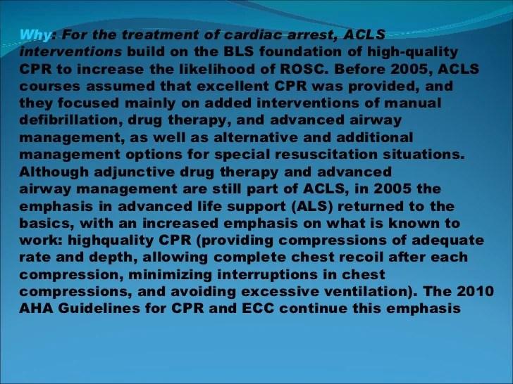 Cambios en ACLS guias 2010