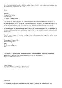 foreclosure letter