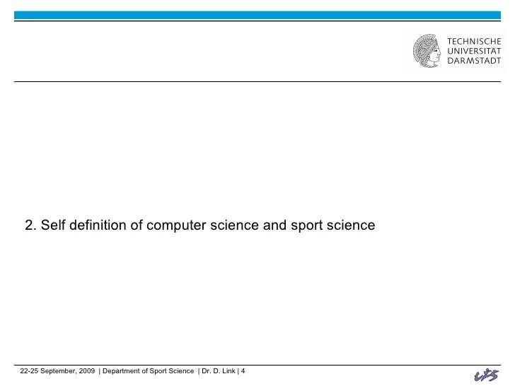 Computer Science Sport Science And Interdisciplinarity