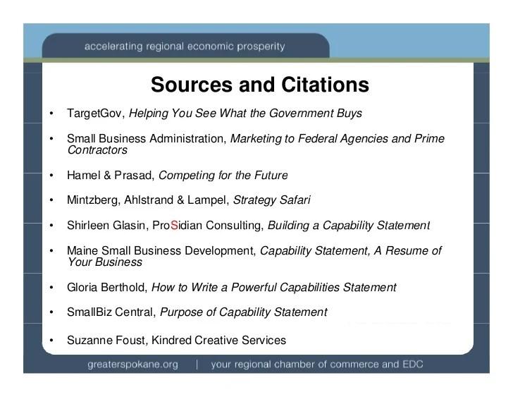 capability statement resume example