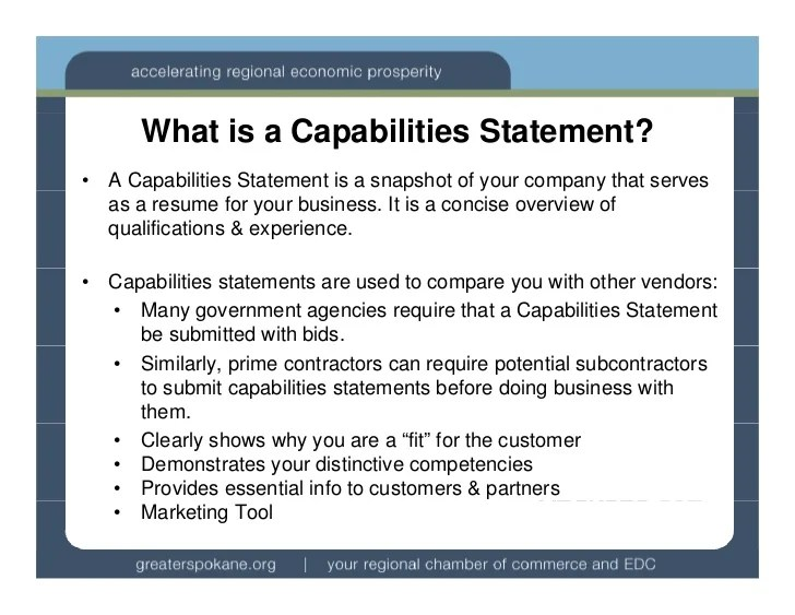 Statement Of Qualifications Sample Format