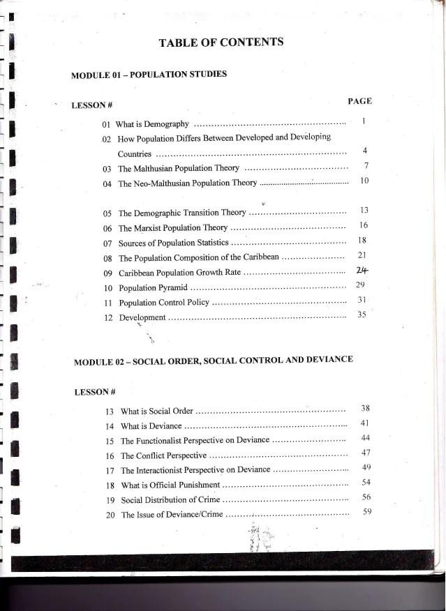 Cape Sociology Unit 2 Study Guide