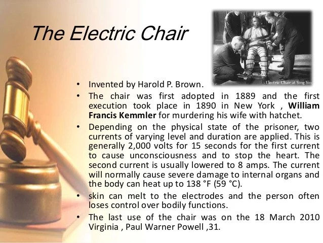 electric chair was invented by cover in australia capital punishment the