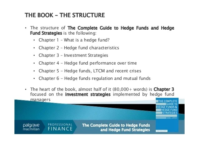 MY NEW BOOK: The Complete Guide to Hedge Fund & Hedge Fund