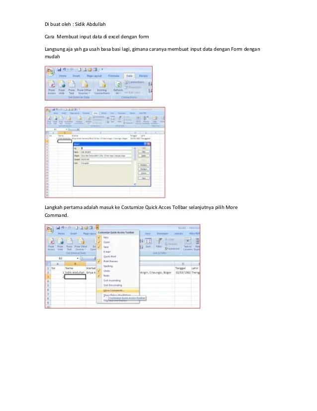 Menginput Data Adalah : menginput, adalah, Membuat, Input, Excel, Dengan