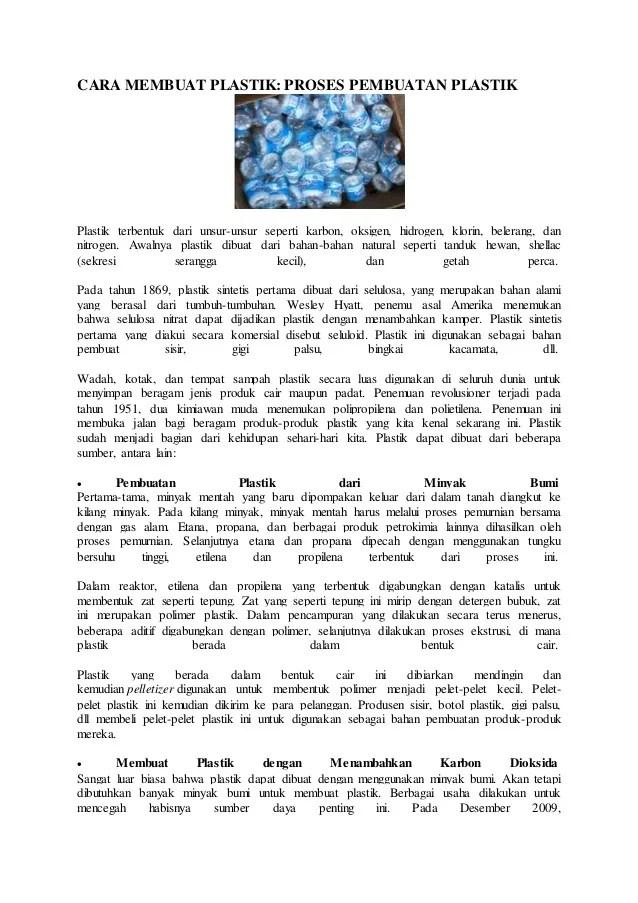 Bahan Pembuatan Plastik : bahan, pembuatan, plastik, Membuat, Plastik